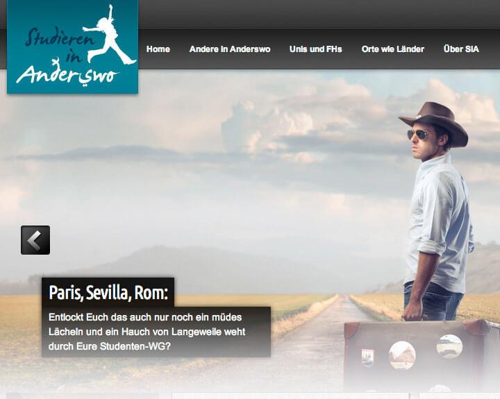 Website Anderswo mit Logo
