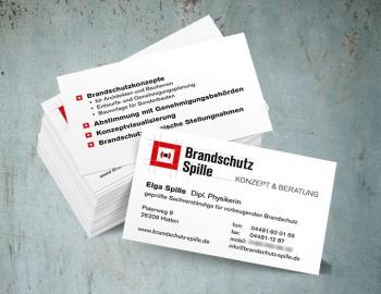 Visitenkarte Brandschutz Spille