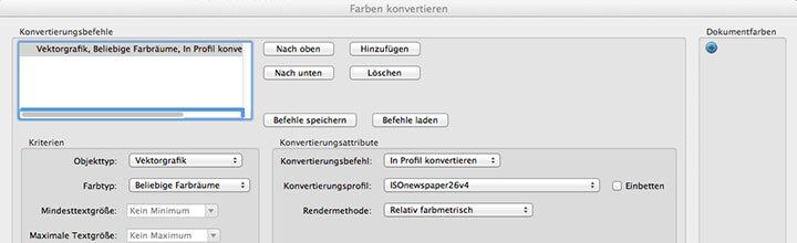 Farbkonvertierungen im PDF