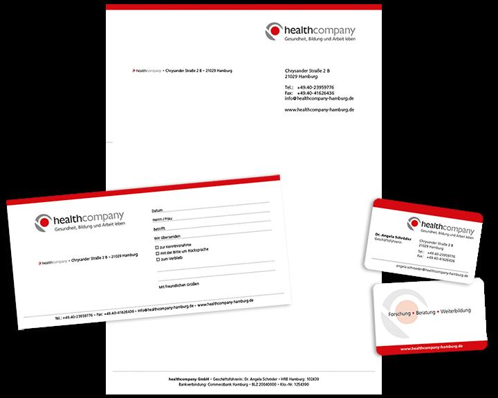 Geschäftspapiere Healthcompany
