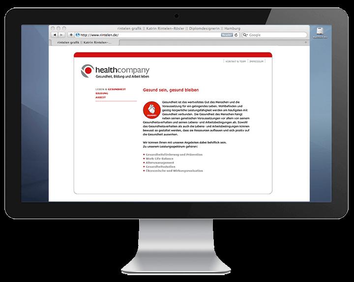 Website Healthcompany, Gesundheit
