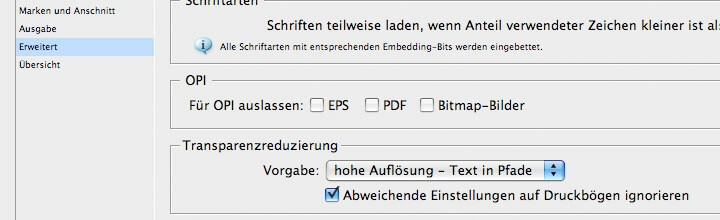 Text in Pfade aus InDesign