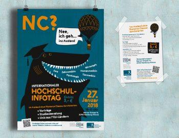 Plakat und Flyer für den Hochschulinformationstag