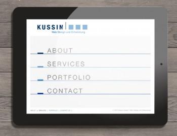 Website Kussin Webdesign und Entwicklung