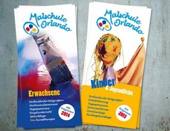 Flyer Malschule Orlando