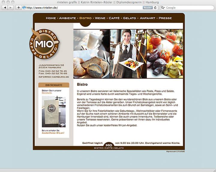 Website Mio Bistro