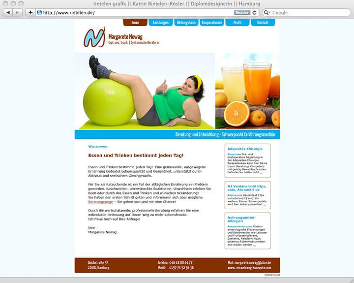 Website Margarete Nowag, Intro