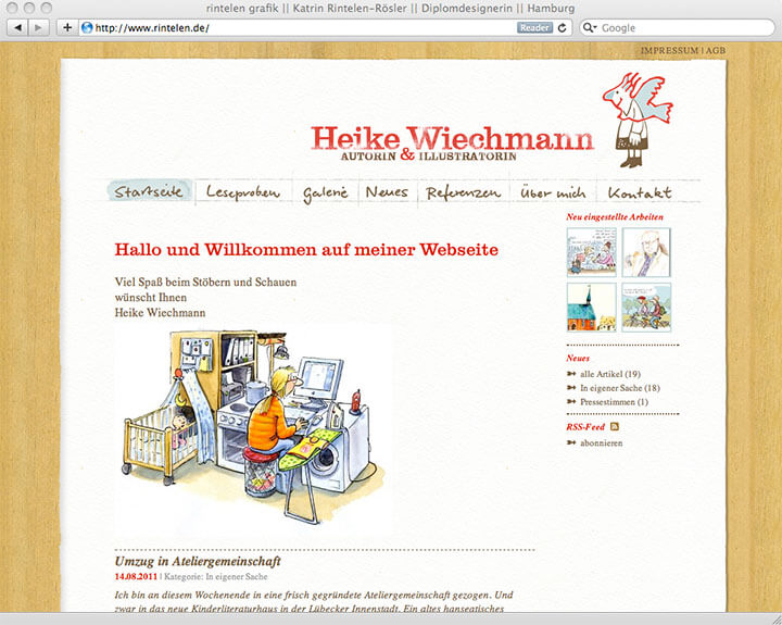 Website Heike Wiechmann, Intro