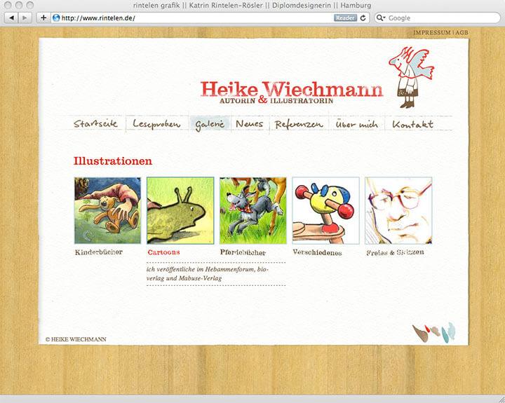 Website Heike Wiechmann, Galerie