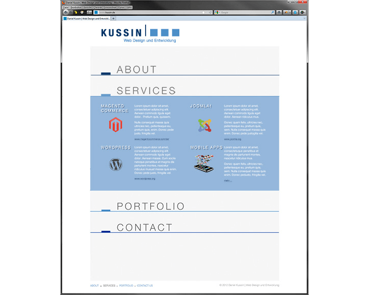 Website Kussin, Services