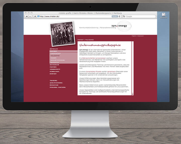 Website Synenergy Wir