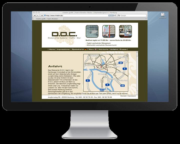 Website DOC Anfahrt