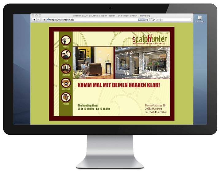 Scalphunter - Website-Intro